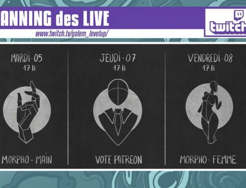 Programme des Lives! Twitch Golem Level Up