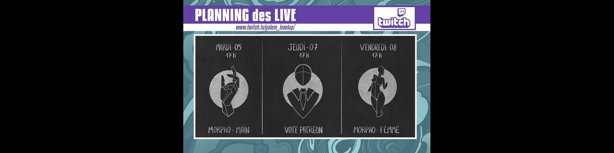 Programme Live! Twitch Golem