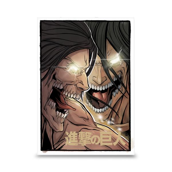 Eren Jäger (エレン・イェーガー, Eren Yēgā?)1 est un personnage fictif et protagoniste du manga L'Attaque des Titans créé par Hajime Isayama. Eren est un adolescent qui a juré de se venger d'énormes créatures, appelées Titans, qui ont dévoré sa mère. Afin de les exterminer, Eren, accompagné de ses amis d'enfance Mikasa Ackerman et Armin Arlelt, s'engage dans l'Armée et rejoint le Bataillon d'Exploration
